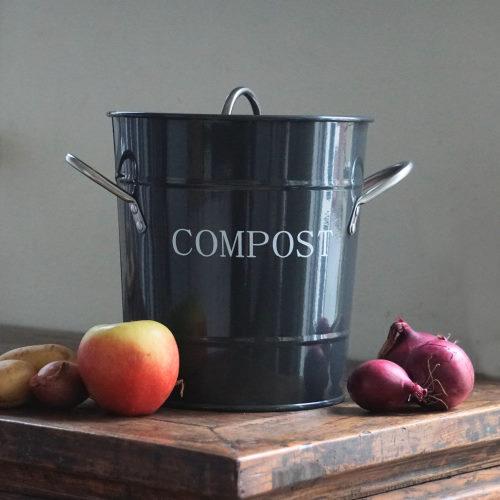 Retro Compostemmer Zwartgrijs