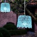 Hanglamp Tuin Blauw (op batterij)