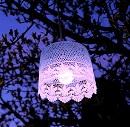 Hanglamp Tuin Lila (op batterij)