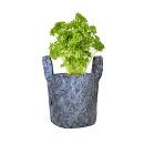 Plantzak Grijs 8 ltr met handvat