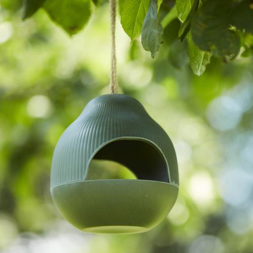 Vogelvoederhuisje Bamboe Groen
