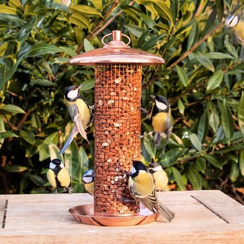 Vogel pinda silo koperkleurig