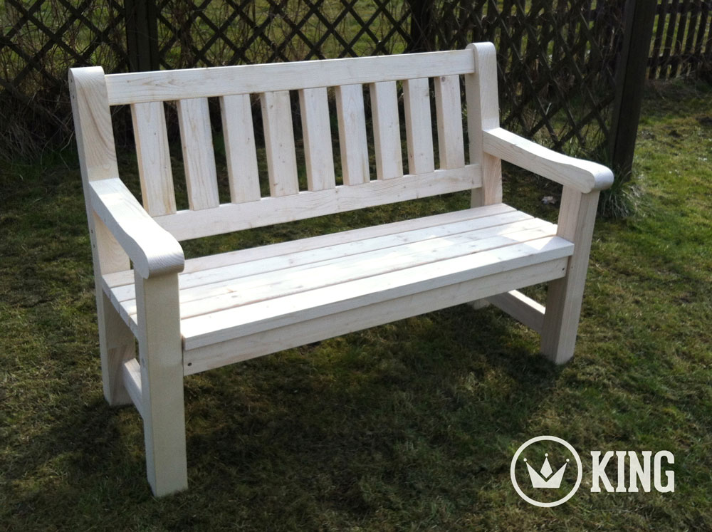 <BIG><B>KING ® Banc de jardin 1.40m (NATURE)</B></BIG>