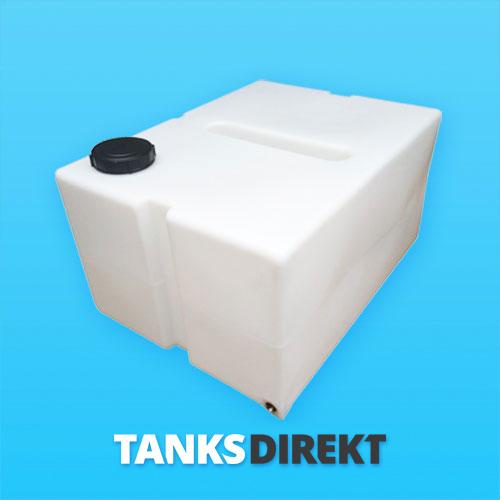 350 Liter Wassertank flach mit Schwallwand