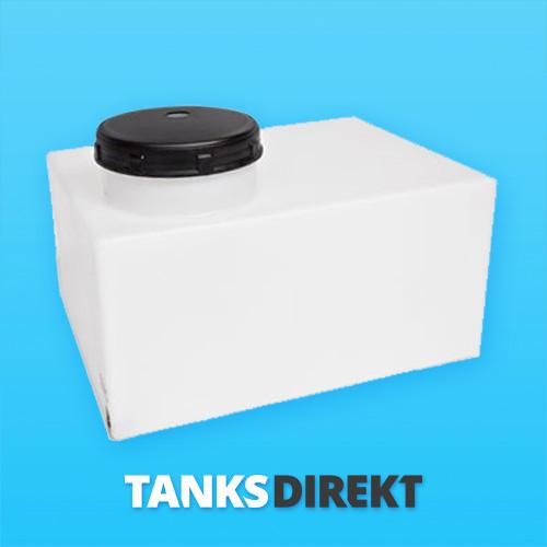 80 Liter Wassertank flach mit Hals