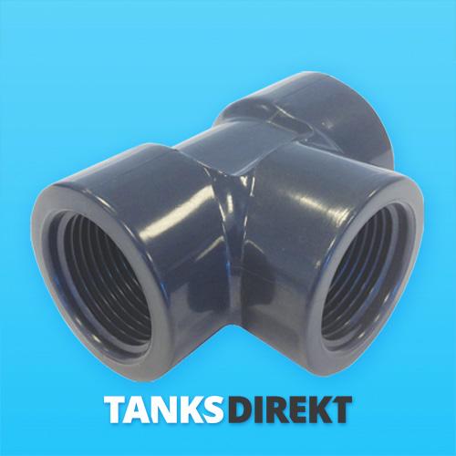 PVC T-Stück 1 1/2 Zoll Innengewinde
