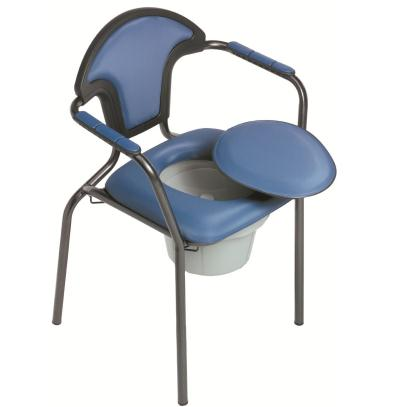 Toiletstoel met vaste hoogte, blauw