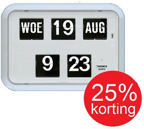 Digitale klok met datum Twemco QD-35, wit