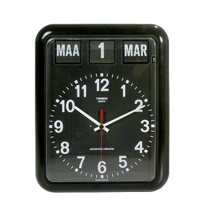 Klok met datum en dag