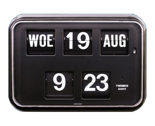 Digitale klok met datum, zwart