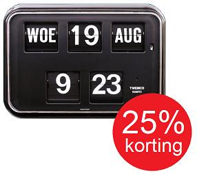 Digitale klok met datum Twemco QD-35, zwart