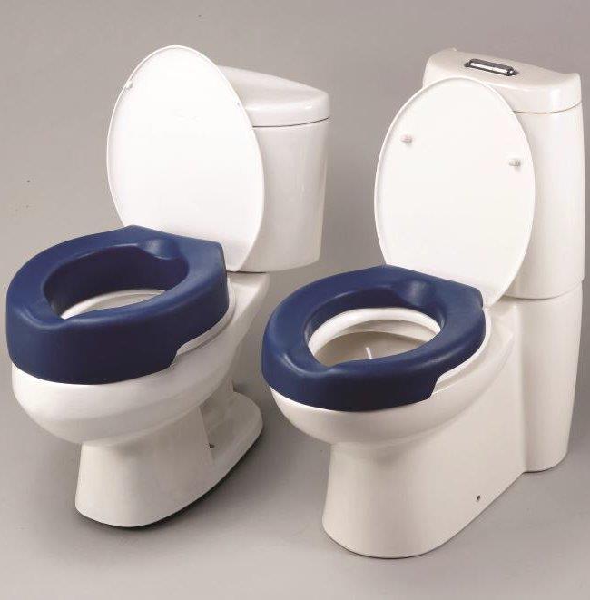 Zachte toiletverhoger uit PU foam, 5 of 10 cm
