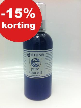 100% pure Emoe Olie. Nu 15% korting. (Tot 23 december)