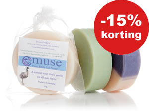 Emu Oil & Goats Milk Soap. Nu 15% korting. (Tot 23 december)