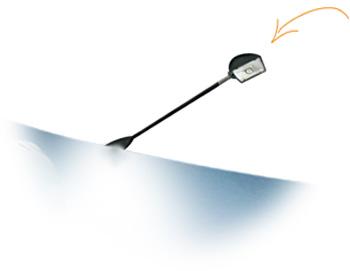 Gratis halogeen spot light bij beurswand