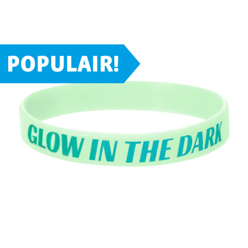 Glow in the dark siliconen armbandjes