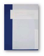Trias dossiermap A4 formaat zonder elastiek, donkerblauw