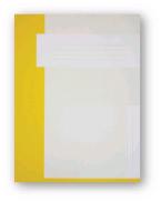 Trias dossiermap A4 formaat zonder elastiek, geel