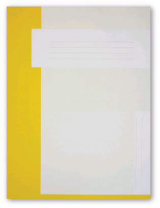 Trias file folder A4 size without elastic braid, yellow