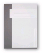 Trias dossiermap A4 formaat zonder elastiek, grijs