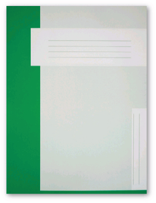 Trias file folder A4 size without elastic braid, light green
