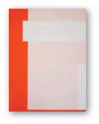 Trias dossiermap A4 formaat zonder elastiek, orange