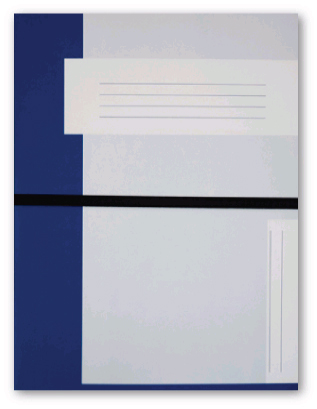Trias file folder A4 size with elastic braid, dark blue