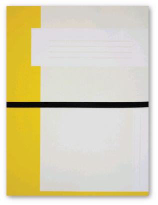 Trias file folder A4 size with elastic braid, yellow
