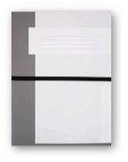 Trias dossiermap A4 formaat met elastiek, grijs