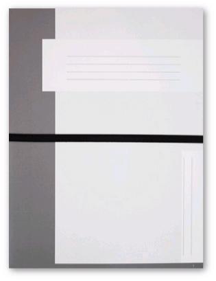 Trias file folder A4 size with elastic braid, grey