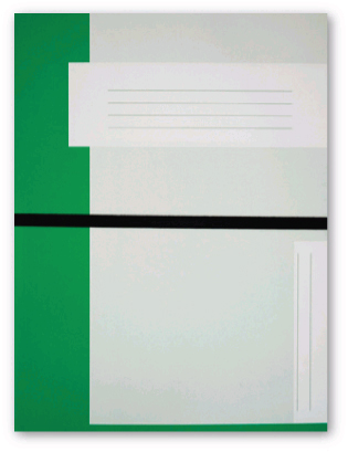 Trias file folder A4 size with elastic braid, light green