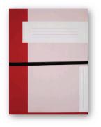 Trias dossiermap A4 formaat met elastiek, rood