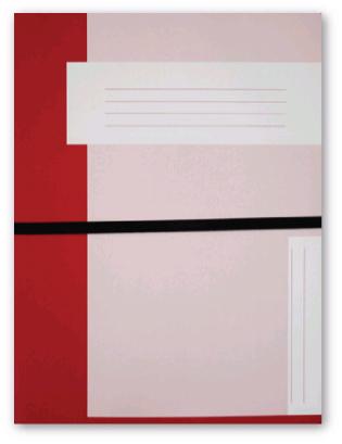 Trias file folder A4 size with elastic braid, red