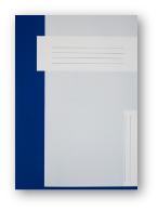 Trias dossiermap zonder elastiek, donkerblauw