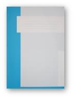 Trias dossiermap zonder elastiek, lichtblauw