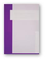 Trias dossiermap zonder elastiek, paars