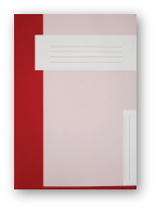 Trias dossiermap zonder elastiek, rood