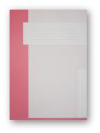 Trias dossiermap zonder elastiek, roze
