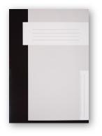 Trias dossiermap zonder elastiek, zwart