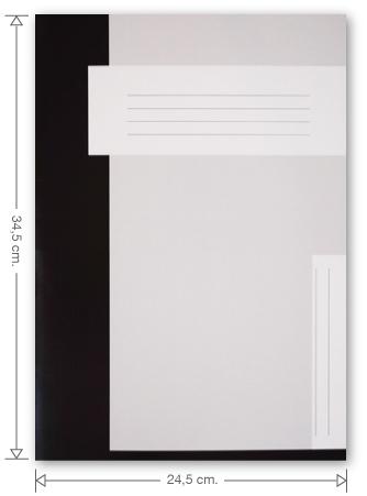 Trias file folder without elastic braid, black