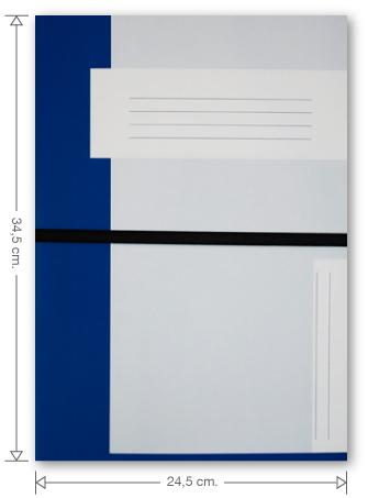 Trias dossiermap met elastiek, donkerblauw