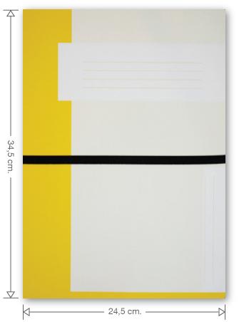 Trias dossiermap met elastiek, geel