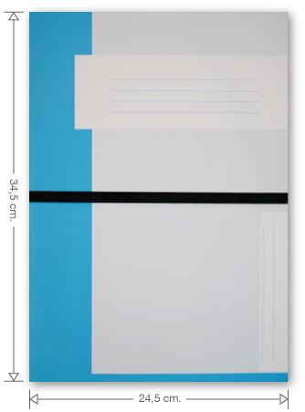 Trias dossiermap met elastiek, lichtblauw