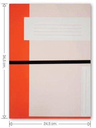 Trias dossiermap met elastiek, oranje