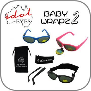 Idol Eyes onbreekbare baby en kinder zonnebrillen met hoofdbandje