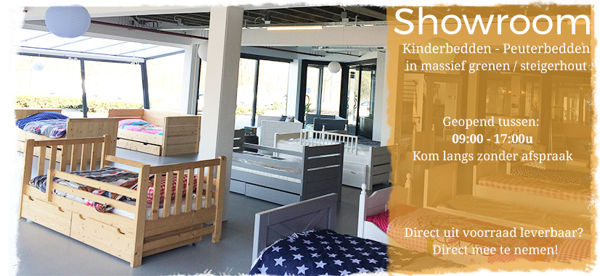 kinderbed.biz Showroom vol met kinderbedden