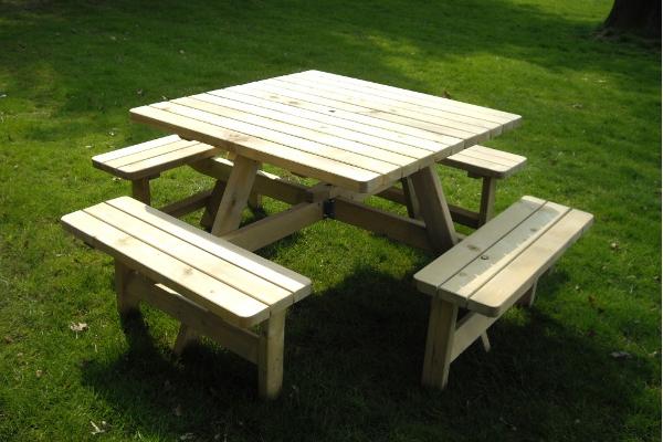 picknicktafels vierkant