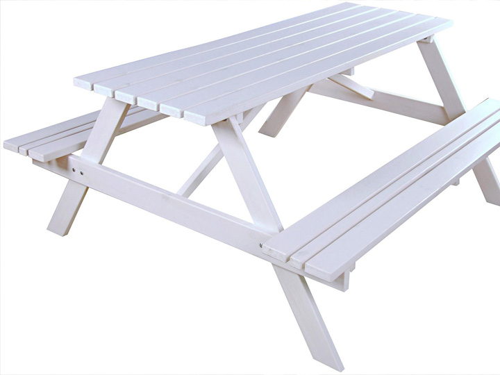 <BIG><B>PICKNICKTAFEL WIT GRENEN 1.50m</B></BIG>