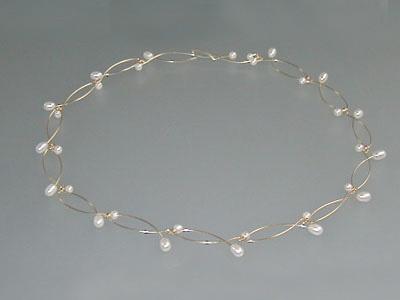 Witte parels-collier Mira