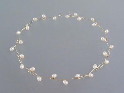 Witte parels-collier PlatteTak